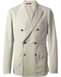 Blazer cruzado en beige de Dolce & Gabbana