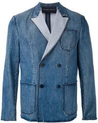 Blazer cruzado vaquero azul de Christian Pellizzari