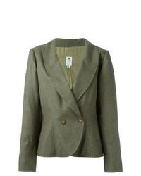 Blazer cruzado verde oliva de Emanuel Ungaro Vintage
