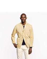 Blazer de algodón marrón claro de J.Crew