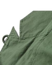 Blazer de algodón verde oliva