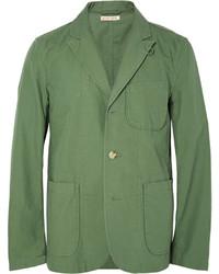 Blazer de algodón verde