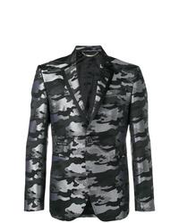 Blazer de camuflaje en gris oscuro de Philipp Plein