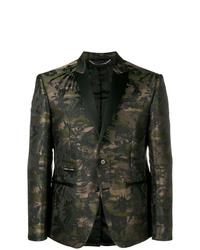 Blazer de camuflaje verde oscuro de Philipp Plein
