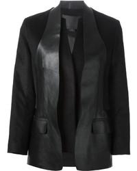 Blazer de Cuero Negro de Alexander Wang
