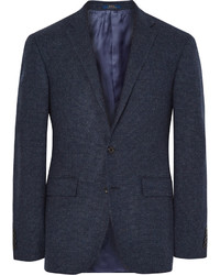 Blazer de lana a cuadros azul marino de Polo Ralph Lauren