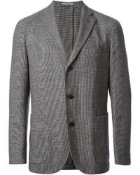 Blazer de lana a cuadros gris de Boglioli