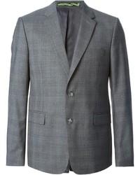 Blazer de lana a cuadros gris de Kenzo