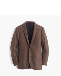 Blazer de lana a cuadros marrón de J.Crew