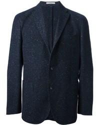 Blazer de lana azul marino