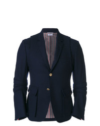 Blazer de lana azul marino de Thom Browne