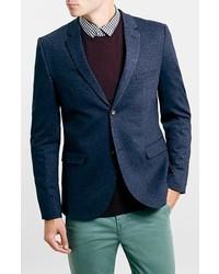 Blazer de lana azul marino de Topman