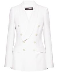 Blazer de Lana Blanco de Dolce & Gabbana