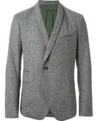 Blazer de lana de espiguilla gris de Haider Ackermann