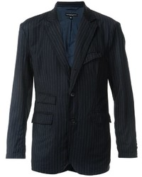 Blazer de lana de rayas verticales azul marino de Engineered Garments