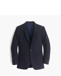 Blazer de lana de rayas verticales azul marino de J.Crew