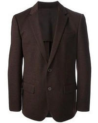 Blazer de lana en marrón oscuro