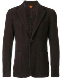Blazer de lana en marrón oscuro de Barena