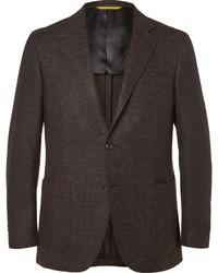 Blazer de lana en marrón oscuro de Canali