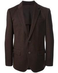 Blazer de lana en marrón oscuro de Hugo Boss