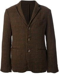 Blazer de lana en marrón oscuro de Original Vintage Style