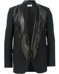 Blazer de lana negro de Saint Laurent