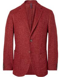 Blazer de lana rojo