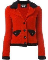 Blazer de lana rojo de Moschino