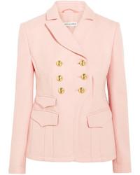 Blazer de lana rosado