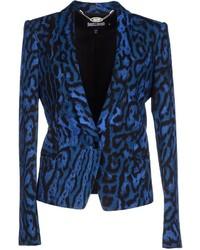 Blazer de leopardo azul
