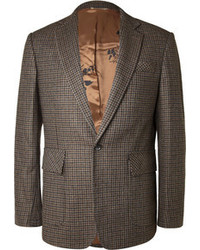 Blazer de pata de gallo marrón
