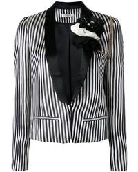 Blazer de rayas verticales en blanco y negro de Lanvin