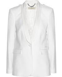 Blazer de seda blanco de Burberry