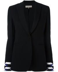 Blazer de seda estampado negro de Emilio Pucci