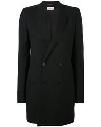 Blazer de seda negro de Saint Laurent