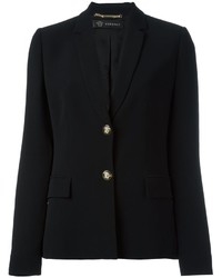 Blazer de seda negro de Versace