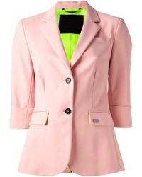 Blazer de seda rosado de Philipp Plein