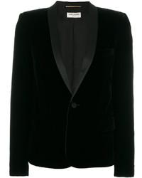 Blazer de terciopelo negro de Saint Laurent