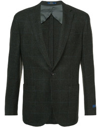 Blazer de tweed con relieve en marrón oscuro de Polo Ralph Lauren