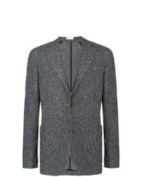 Blazer de tweed de punto en gris oscuro de Boglioli