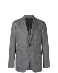 Blazer de tweed en gris oscuro de Ermenegildo Zegna