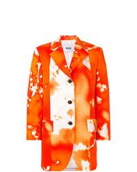 Blazer efecto teñido anudado naranja de MSGM