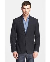 Tenue  Blazer en coton gris foncé, Cardigan noir, Chemise à manches ... 9e9295677da6