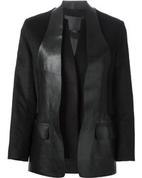Blazer en cuir noir Alexander Wang