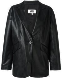 Blazer en cuir noir MM6 MAISON MARGIELA