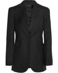 Blazer en laine à rayures verticales noir Joseph
