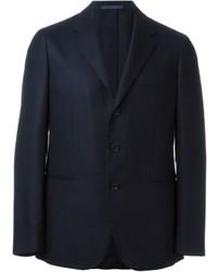 Blazer en laine bleu marine Caruso