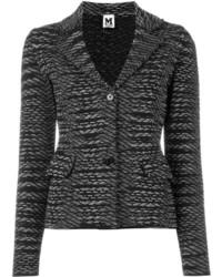 Blazer en laine en tricot noir M Missoni