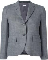 Blazer en laine gris Thom Browne