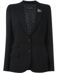 Blazer en laine noir Dolce & Gabbana